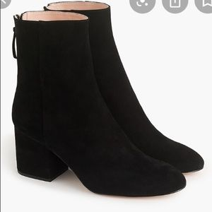 New in Box J.Crew black Suede ankle boots 8.5 39